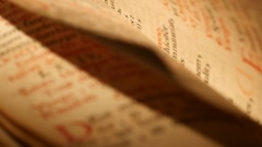 4K Fast flipping pages of Antique Bible Stock Footage