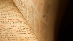 4K Flipping pages of Antique Bible Stock Footage