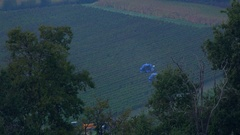 Grape Harvest Machine - Bordeaux Vineyard Stock Footage