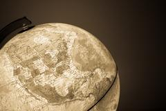Globe with politics map on it ( vintage effect ) Stock Photos