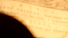 4K Magnifier increase book of 18th Century Stock Footage