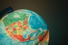 Globe with politics map on it Stock Photos