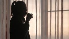 Girl Vaping Enjoying An Electronic Cigarette Stock Footage