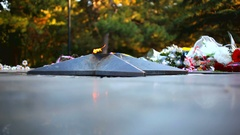 Eternal flame. Memorial Day Stock Footage