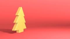 Golden christmas tree symbol Stock Footage
