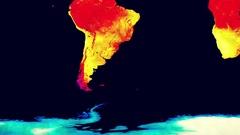Earth Landmass Global Warming Southern Hemisphere 1 Stock Footage