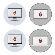 Identifying a computer virus. Stock Illustration