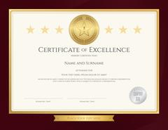 Elegant certificate template for excellence, achievement, appreciation or c.. Stock Illustration