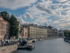 View from The Anichkov Bridge. Timelapse Stock Footage