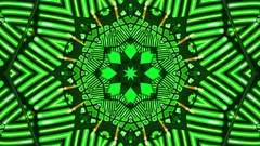 GreenKaleidoscope VJ Loop HD Stock Footage
