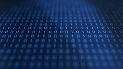 Blue modern futuristic Computer Binary Code software - Slant Angle Stock Footage
