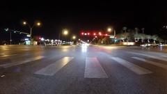 Las Vegas Night Driving Time Lapse on West Desert Inn Road Stock Footage
