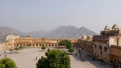 Amber fort, Jaipur, India Stock Footage