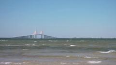 Sunshine Skyway Bridge in St Petersburg, FL, 4K Stock Footage