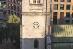 Clock showing ten past ten Stock Photos