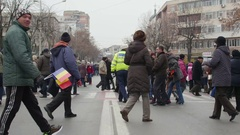Crowd of people time lapse Stock Footage