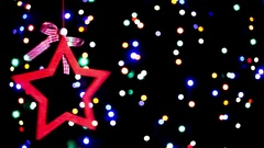 Star with colorful lights Stock Footage