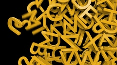 Letters alphabet characters fill screen transition capital type font book abc 4k Stock Footage
