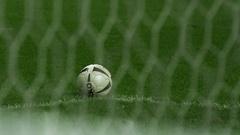 Soccer Ball Kick Stock Footage