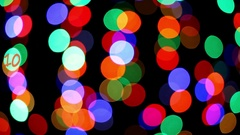 Colored lights with the words Happy New Year Stock Footage