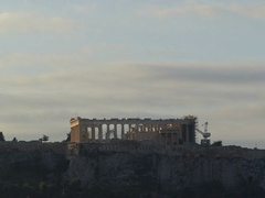 4K Dramatic clouds Timelapse Skyline Greece Athens Athina Athen Acropolis Stock Footage