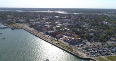 Aerial footage St Augustine FL Stock Footage