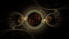 Rotating SteamPunk Fractal Gears -   Fractal Abstract Animation Stock Footage