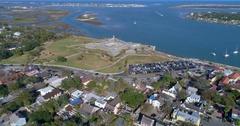 Aerial fort Castillo De San Marcos 4k 60p Stock Footage