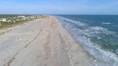 Aerial St Augustine Beach coastline 4k 60p Stock Footage