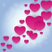 Valentine s Day Heart Symbol. Love and Feelings Background Desig Stock Illustration