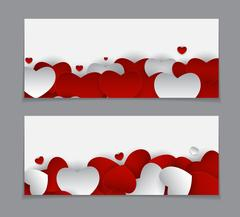 Valentine s Day Heart Card Love and Feelings Background Design Stock Illustration