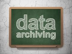 Data concept: Data Archiving on chalkboard background Stock Illustration
