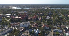 Aerial video Flagler College St Augustine Stock Footage