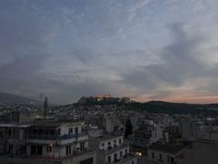 4K Dramatic Timelapse Skyline Greece Athens Acropolis Parthenon Stock Footage