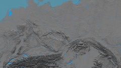 Zoom into Sudetes mountain range - masks. Elevation map Stock Footage