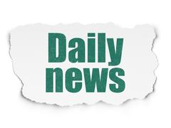 News concept: Daily News on Torn Paper background Stock Illustration