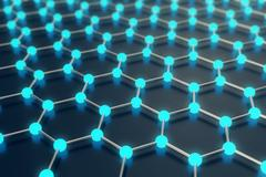 3d rendering abstract nanotechnology hexagonal geometric form close-up, concept Stock Illustration