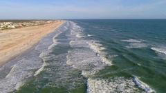 St Augustine Beach coastline 4k 60p Stock Footage