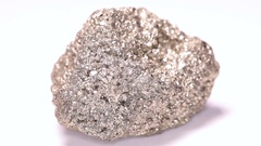 Pyrite or Fools Gold rotating Stock Footage