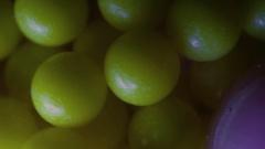 Plastic airsoft pellets pellet 6mm Stock Footage