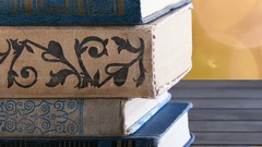 Books, old, stacked Stock Footage