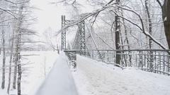 Makarov bridge. Kronstadt. Russia. Stock Footage