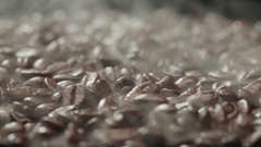4K Aroma of coffee, strong Roast, Coffee Bean, rotation and a lot of rising Stock Footage