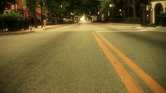 Tilt up on main street in small town America Stock Footage