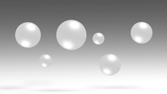 Abstract movement spheres group 3d balls. Stock Footage