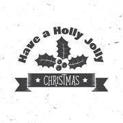 Have a holly jolly Christmas typography. Vector illustration Stock Illustration