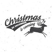 Christmas is coming 25 december typography. Vector illustration Stock Illustration