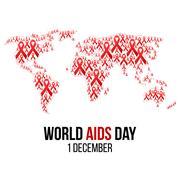 Vector illustration of hiv,aids awareness Stock Illustration