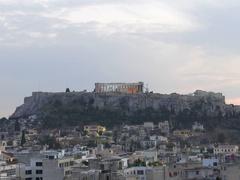 4K Dramatic Timelapse Skyline Greece Athens Athina Athen Acropolis Parthenon Stock Footage
