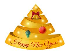 Vector composition on a festive New Year's greetings. Stock Illustration